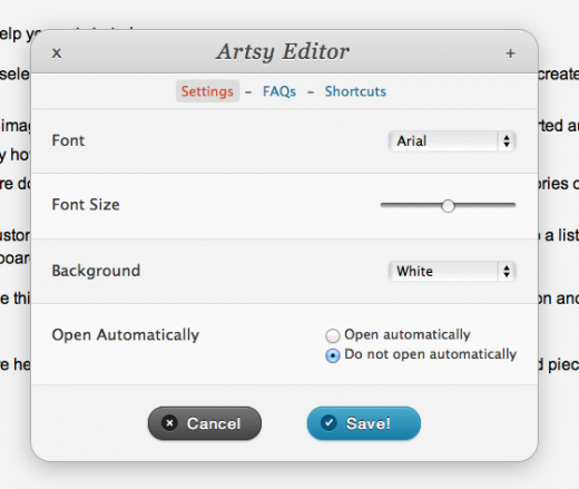 Picture 494 520x439 Artsy Editor turns Wordpress into a minimalist distraction free writing web app