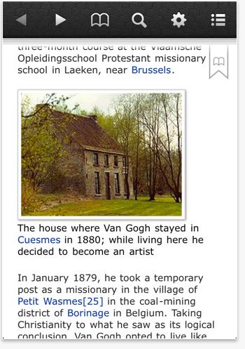 All of Wikipedia iphone screenshot
