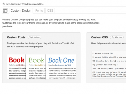 Picture 849 520x389 WordPress.com unveils a new custom design upgrade with fonts from Typekit