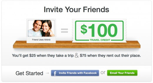 Referrals Screenshot 520x284 Airbnbs new referral program could double its member base