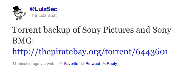 Hackers claim compromise of 1 million Sony Pictures users' information.