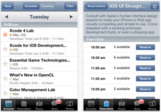 Screen shot 2011 06 02 at 7.06.57 PM 520x363 Apple releases its official WWDC 2011 app (for attendees only)