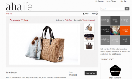 Screen shot 2011 06 03 at 1.01.37 PM 520x310 AHAlife adds curation and social influence to sell luxury goods