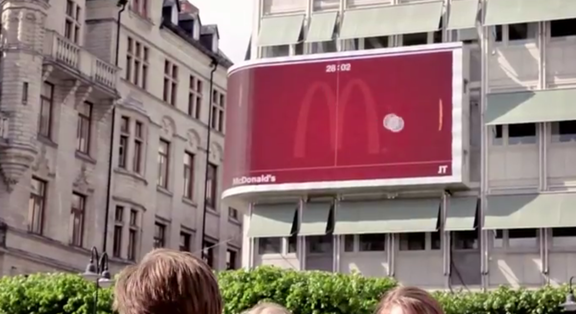 McDonald's Brilliant Interactive Billboard Campaign