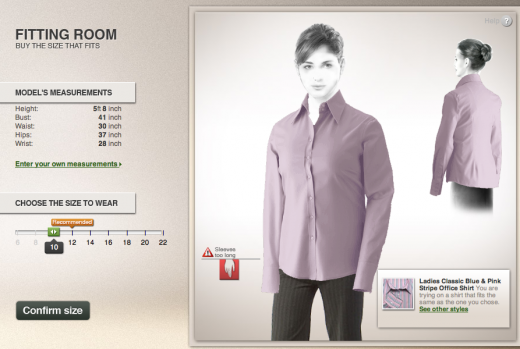 Screen shot 2011 06 10 at 10.59.02 520x349 Fits.me launches robot to help women size up clothes online