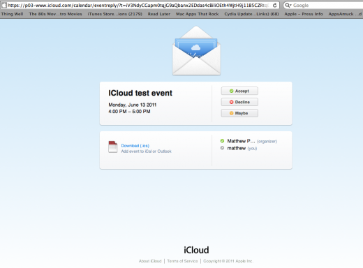 Screen shot 2011 06 13 at 3.36.25 PM 520x384 It looks like iCloud will have some web apps after all