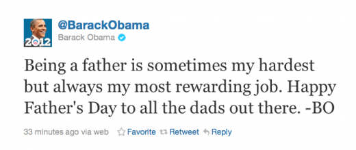 Screen shot 2011 06 19 at 7.22.55 PM 520x219 Obamas First Tweet