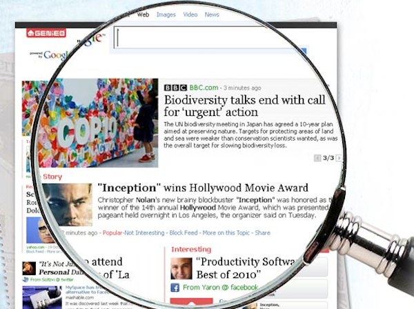 Personalize your homepage, newspaper style, with Genieo [Video]
