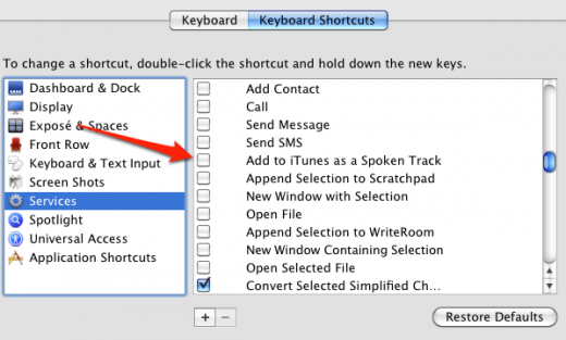 Screen shot 2011 06 28 at 4.23.46 PM 1 520x313 OS X Lion lets you convert any text into a speech track with a click [Updated]