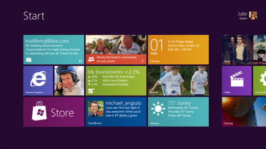 Windows 8 start menu 520x292 Microsoft shows off Windows 8s tablet UI