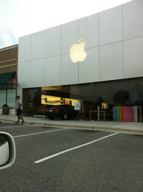 applestorecrash Robber wearing a white ninja suit crashes into Apple Store