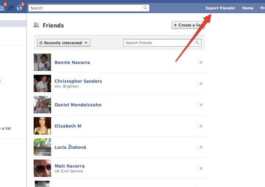 exportfriends How to bring your Facebook friends over to Google+
