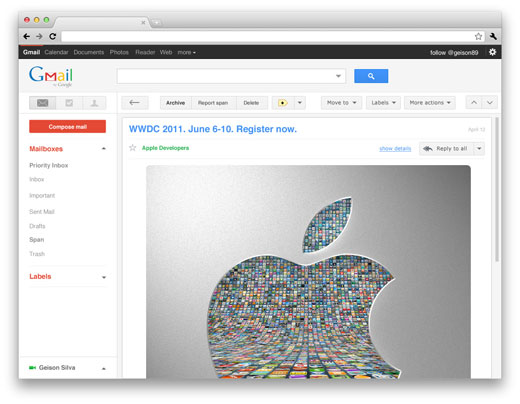 gmail Check out these mockups of how Gmail and Google Reader could look soon.