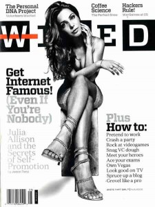 julia allison wired cover 225x300 Internet Week in New York City: Three exhibits you cant miss