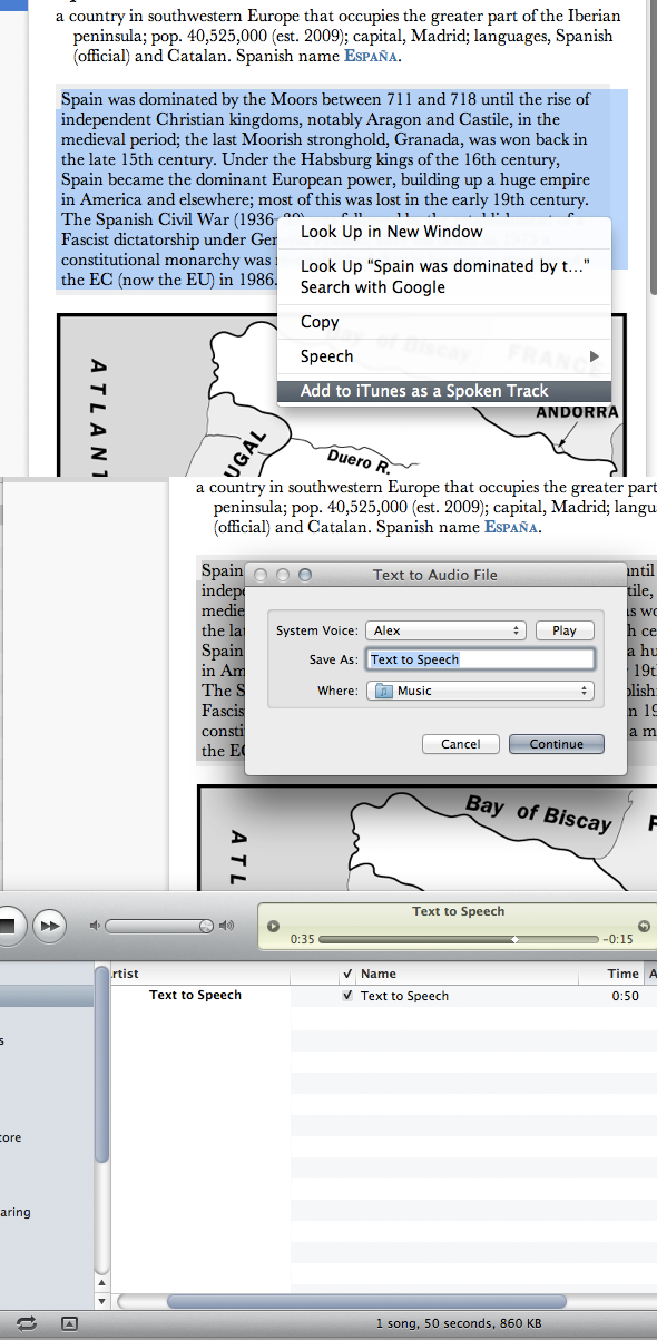 OS X Lion lets you convert any text into a speech track with a click [Updated]