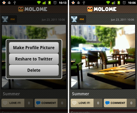 molome Molome gives users a taste of Instagram on their Android smartphone