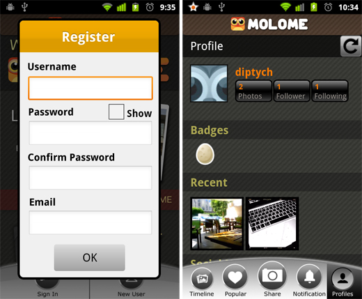 molome1 Molome gives users a taste of Instagram on their Android smartphone