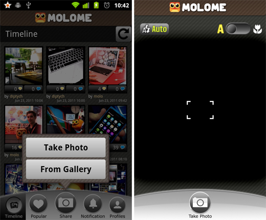 molome2 Molome gives users a taste of Instagram on their Android smartphone