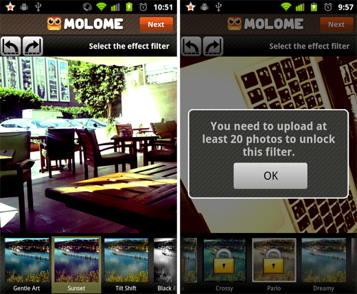 molome3 Molome gives users a taste of Instagram on their Android smartphone