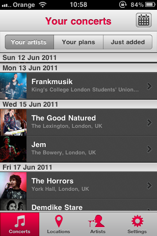 photo1 Songkick drops a sweet new iPhone app for live music fans
