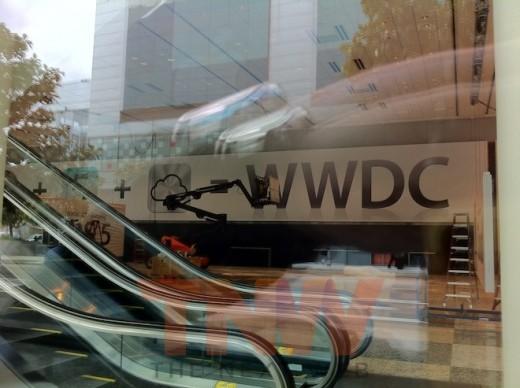 photo1wtmk 520x388 Spy shots from the setup of Apples WWDC.