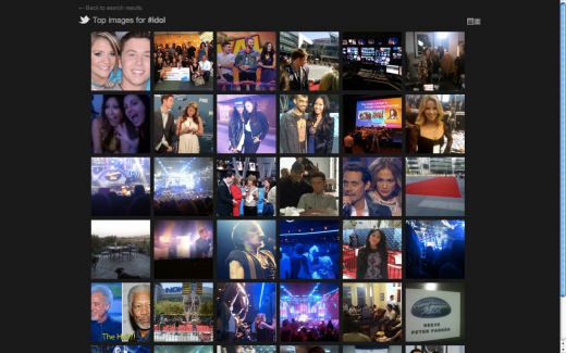 photo gallery idol 520x325 Twitter announces its new search engine and photo sharing [Screenshots]