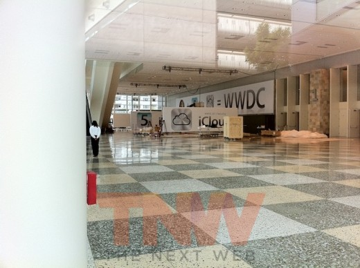 photowtmk 520x388 Spy shots from the setup of Apples WWDC.