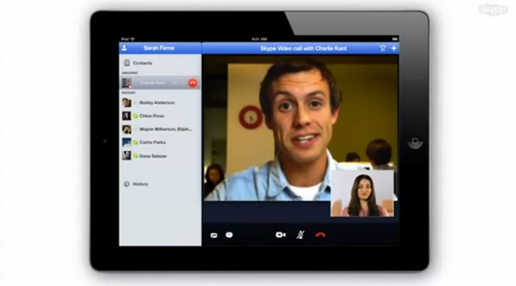 Is this a demo video of Skype's new iPad app? Yep. [Updated]