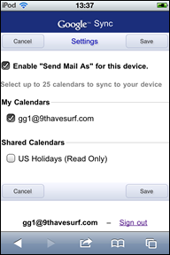 send mail as checked Google Sync gets universal Gmail search and Send mail as features for iOS