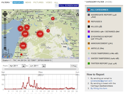 syria Location aware crowdmapping: The next Wikipedia?
