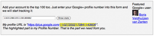 0r 520x123 SocialStatistics shows you the top 100 Google+ users at any time