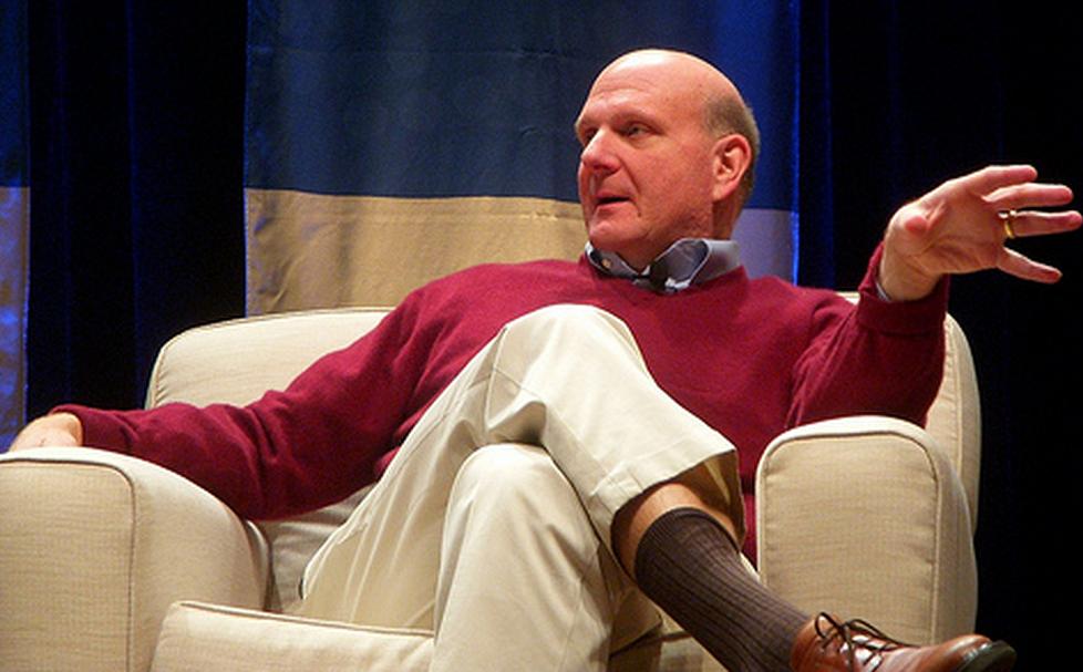 Ballmer mocks Mac sales while touting Microsoft's products