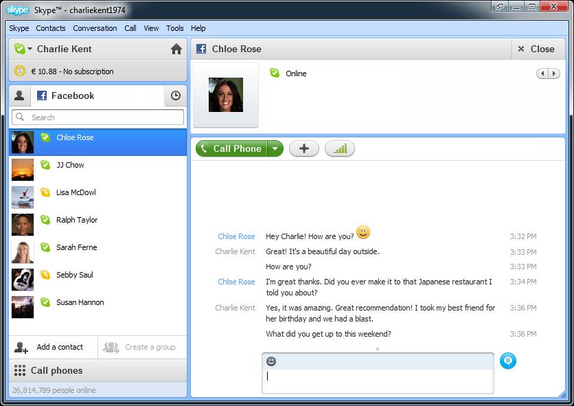 ���� ������ ������ ����� �� ������ Skype 7.3.0.101