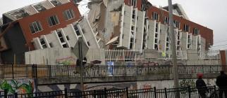 2010 Chile earthquake – Building destroyed in Concepción