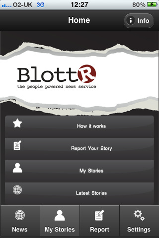 Blottr2 Blottr launches smartphone apps to mobilize citizen journalists across the UK