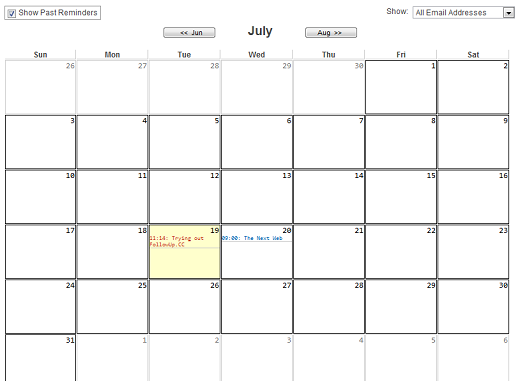 Calendar1 In depth with FollowUp.cc: Reminders, calendar and task list in one