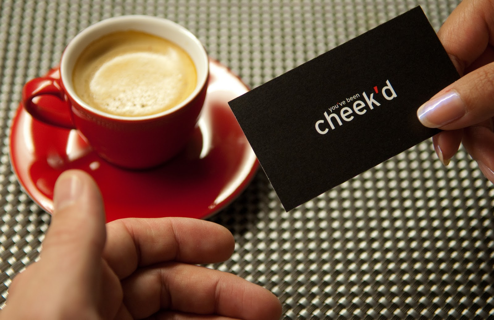 "Have you been Cheek'd? The dating service with ""business cards"""