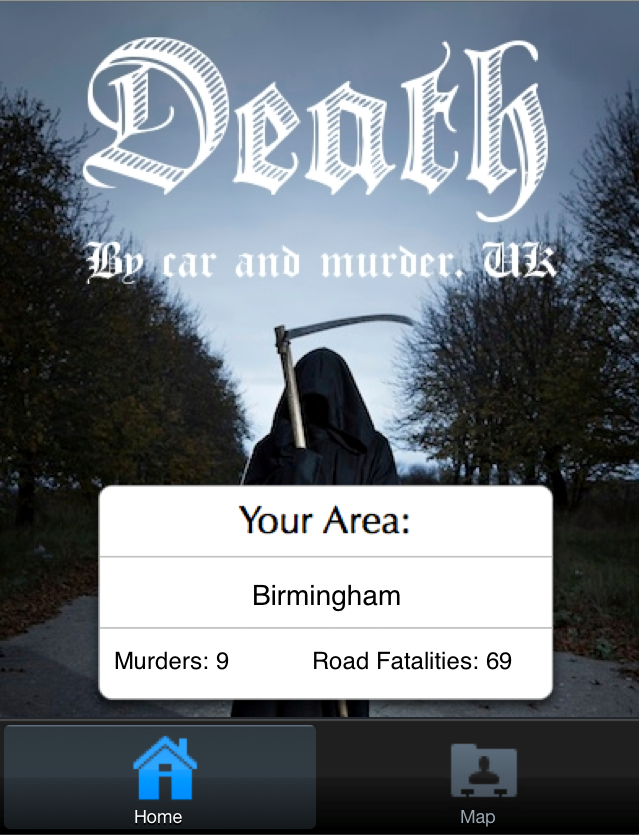 DeathApp2 The Death App reveals murders and road fatalities across the UK