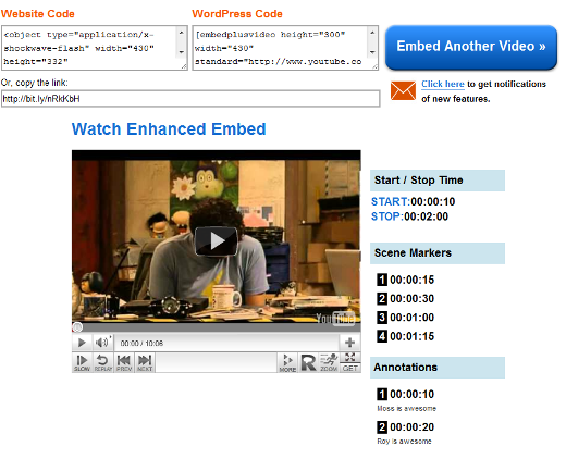 Embed4 EmbedPlus lets you control how a YouTube video is watched