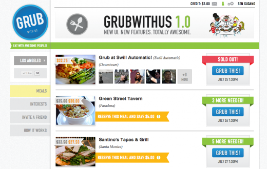 Meals Page 520x330 Grubwithus gets a shiny redesign just in time for its birthday party