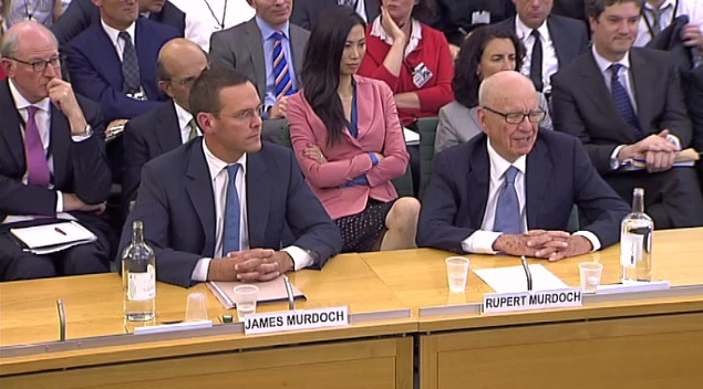 Murdochs1 The Murdochs face MPs questions: What happened
