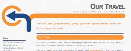 Our Travel Community supported journey alerts 1310373419652 520x203 Crowdsourced traffic info research project looks to take on Waze