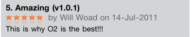 Picture 19 O2s new app receives high praise in the App Store...from O2 staff