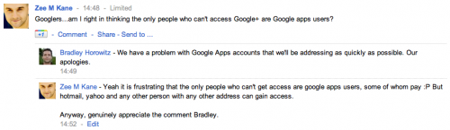 Picture 538 500x145 Frustrating: the ONLY people who cant access Google+ are Google Apps users...many of whom pay