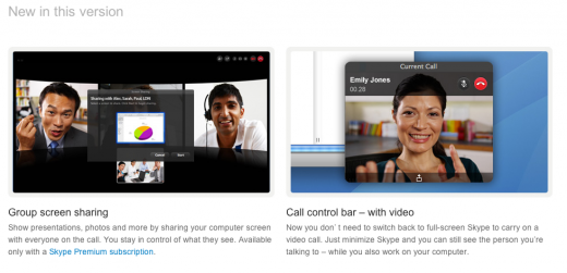 Screen Shot 2011 07 05 at 15.18.02 520x251 Skype 5.2 for Mac adds group screen sharing and new video controls