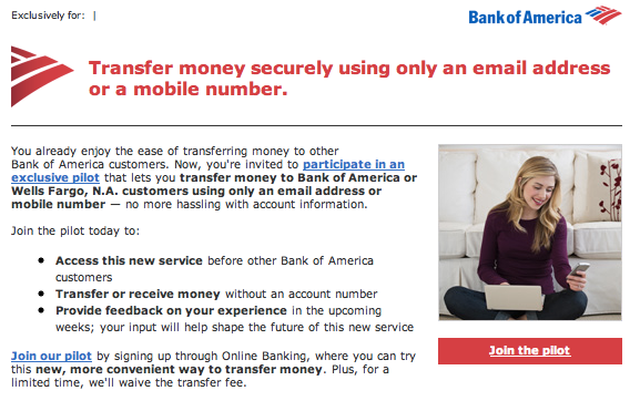 Bank Of America To Trial Payments Via Phone Numbers Email