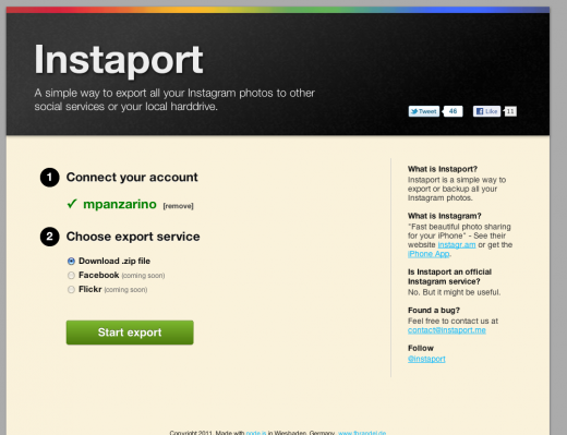 Instaport: Download your entire Instagram archive