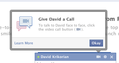 Screen shot 2011 07 06 at 10.30.27 AM Heres how to start using Facebook Video Calling now!