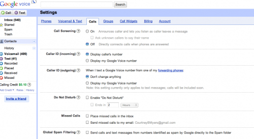 Screen shot 2011 07 12 at 2.45.00 PM 500x273 Global Spam Filtering arrives for Google Voice