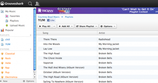Screen shot 2011 07 14 at 10.54.45 AM 520x276 Showdown: Spotify vs. Rdio vs. Grooveshark vs. Pandora